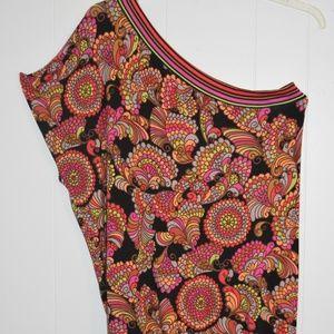 Trina Turk One Shoulder Print Dress/ Cover-up. Med